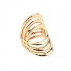 Women's Stylish Hollow-out Punk Style Gold-plated Zinc Alloy Ring - Gold (US Size: 7)
