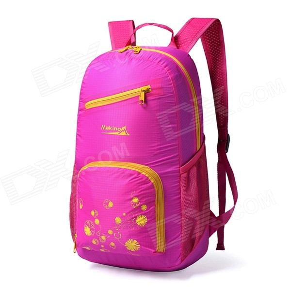 Makino 5517 Lightweight Water-resistant Foldable Outdoor Hiking Nylon Backpack - Deep Pink (22L)