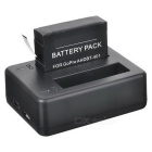 Buy Rechargeable 1230mAh 3.8V Li-ion Batteries + Dual-USB Charger Set GoPro Hero 4 - Black