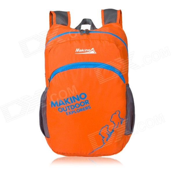 Makino 5507 Lightweight Water-resistant Foldable Outdoor Hiking Nylon Backpack - Orange (22L)