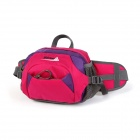 MAKINO Multi-functional Water-resistant Outdoor Mountaineering Nylon Waist Bag - Deep Pink (6L)