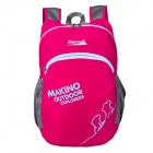 Makino 5507 Lightweight Water-resistant Foldable Outdoor Hiking Nylon Backpack - Deep Pink (22L)