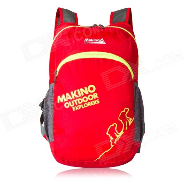 Makino 5507 Lightweight Water-resistant Foldable Outdoor Hiking Nylon Backpack - Red (22L) teardrop faux pearl jewelry set