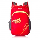 Makino 5507 Lightweight Water-resistant Foldable Outdoor Hiking Nylon Backpack - Red (22L)