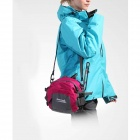 MAKINO multi-fonctionnel résistant à l'eau en plein air Alpinisme Nylon sac de taille - Deep Rose (8L)