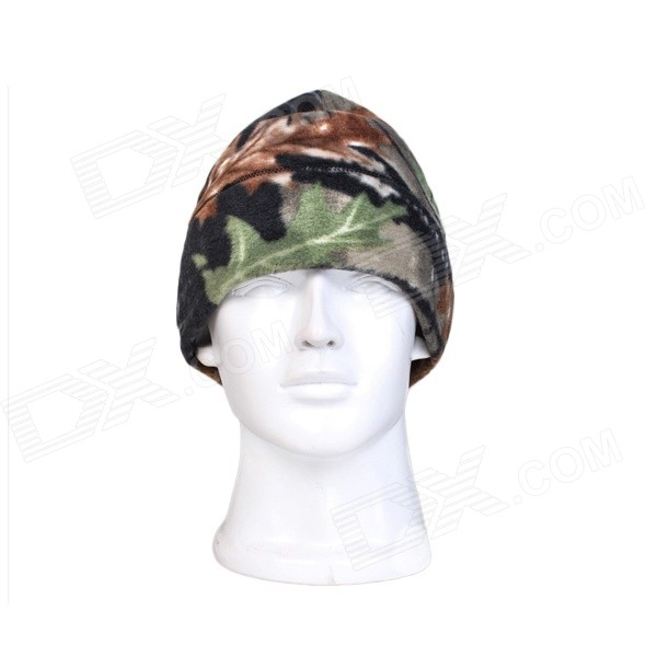 Men's Outdoor Windproof Warm Cap - Camouflage + Green + Multi-Color