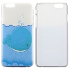 Whale Pattern Protective PC Back Case for IPHONE 6 - White + Blue