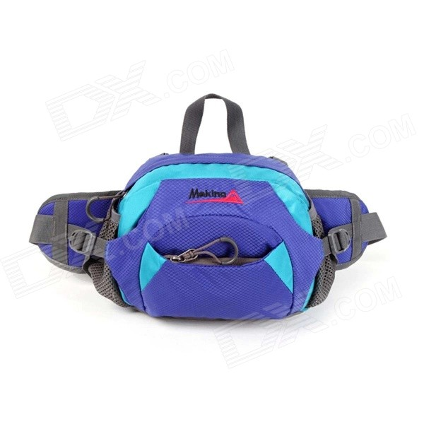 MAKINO Multi-functional Water-resistant Outdoor Mountaineering Nylon Waist Bag - Blue (6L)