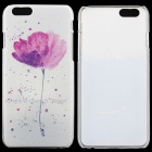 Flower Pattern Protective PC Back Case for IPHONE 6 - White + Deep Pink