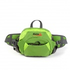 MAKINO Multi-functional Water-resistant Outdoor Mountaineering Nylon Waist Bag - Green (6L)