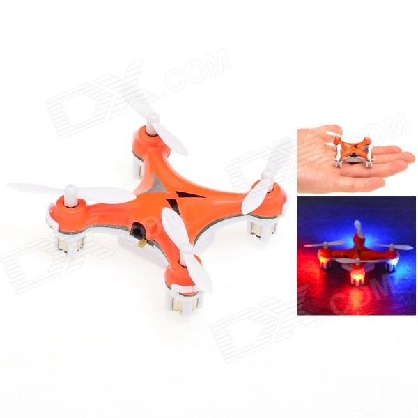 HJ993 360 Degrees Eversion Mini 4-CH 2.4GHz Radio Control R/C Quadcopter w/ Gyro - Orange (2 x AAA) new arrival xinxun x47 2 4ghz 6 axis gyro 4 5 ch quadcopter with 360 dgree eversion function led light remote control helicopter