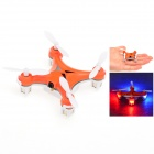 HJ993 360 Grad Eversion Mini 4-Kanal 2,4 GHz Fernsteuerung R / C Quadcopter w / Gyro - Orange (2 x AAA)