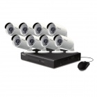 VOLS VS-4034CS 8CH 960H DVR Security System w / 1TB HDD, 8 x 900TVL Night Vision Camera - Zwart