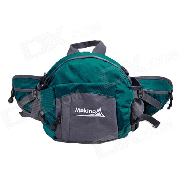 MAKINO Multi-functional Water-resistant Outdoor Mountaineering Nylon Waist Bag - Indigo Blue (8L)