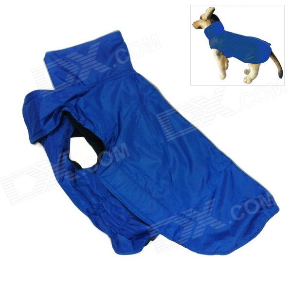 Water-resistant Nylon + Fleece Jacket for Pet Dog - Dark Blue (Size L) universal nylon cell phone holster blue black size l