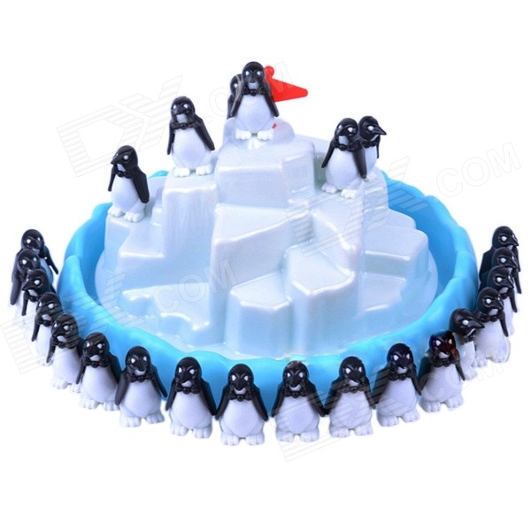 NEJE Funny Penguin Pile-up Balancing Educational Game Toy - White + Blue + Black pizza balance game pile up balancing desktop toy pretend play food small family plastic building blocks toys for children