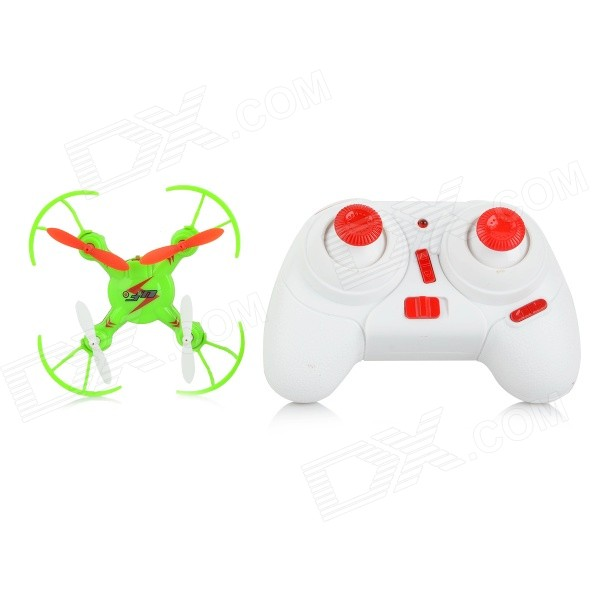 WLtoys V646 2.4GHz 4-CH Outdoor R/C Mini Quadcopter w/ Gyro / Lamp - Green wltoys wl r4 2 9 lcd 6 axis multi function remote controller for r c toy black 4 x aa