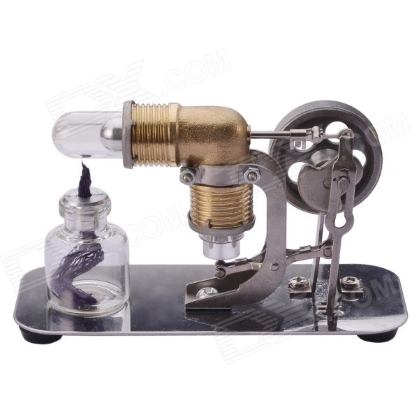 NEJE DIY Mini Hot Air Stirling Engine Motor Model Toy - Antique Copper + Silver + Grey 16mm bore 100mm stroke aluminum alloy pneumatic mini air cylinder mal16x100 free shipping