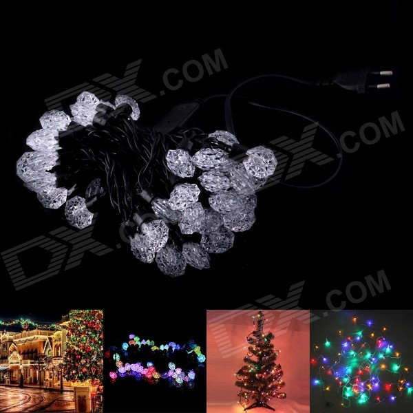 220V 12W RGB 50-LED Diamond Style Decorative Christmas Light Strip (500cm / EU Plug)
