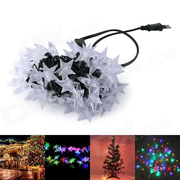 A0020 220V 12W RGB LED Star Style Decorative Christmas Light Strip (500cm / EU Plug)