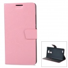 Protective Flip Open PU-Fall-Abdeckung w / Stand + Card Slot für Huawei Ascend Taube 7 - Pink