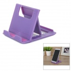Portable Folding Adjustable ABS Desktop Holder Stand for Tablet PC & Cellphone - Purple + Pink