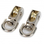 Metal Fixed Pulley for DIY Model Experiment - Silver (2PCS)