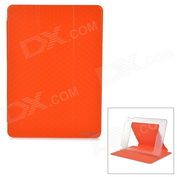 все цены на Flip-Open Auto-Sleep PU + PC Case w/ Transformable Stand for IPAD AIR 2 - Orange + Transparent онлайн