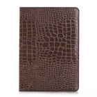 WB-A005 Alligator Skin Pattern Protective PU Leather Case w/ Stand for IPAD AIR 2 - Brown