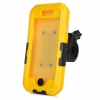 CK-169 Bike Handlebar Mounted Protective IPX5 Waterproof ABS + Silicone Case for IPHONE 6 - Yellow
