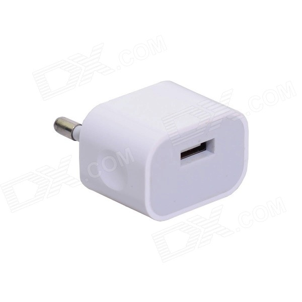 EU Plug Power Adapter w/ Universal USB Output for IPHONE 6 / 6 PLUS + More - White ps 1 universal 5v 2a eu plug micro usb output power adapter for cellphone tablet pc black