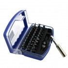 31-in-1 Pneumatic / Electric Tools Dedicated Screwdriver Set - Blue + Silver + Black