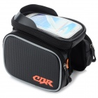 CBR CBR-09 EVA Bike Top Tube Bag w/ Glare Shield for Touch Screen Phones - Black
