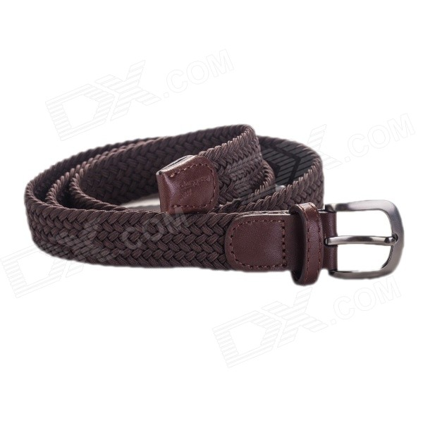 Moda Couro Acecamp 5104 Feminina Elastic Pin Buckle PU Belt Sports - Coffee