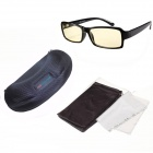 Reedoon F207 Radiation / Blue-Ray Protection TR90 Frame Resin Lens Gaming Glasses - Bright Black
