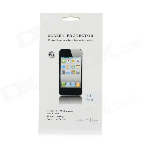 Protective PET Clear Screen Guard Protector for OnePlus One Cell Phone - Black universal nylon cell phone holster blue black size l