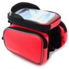 CBR CBR-09 EVA Bike Top Tube Bag w/ Glare Shield for Touch Screen Phones - Black + Red