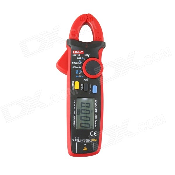uni-t-ut211b-186-lcd-60a-acadca-true-rms-mini-clamp-multimeter-2-x-aaa