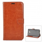 Protective PU Leather Case w/ Card Slots / Stand for Google Nexus 6 - Brown