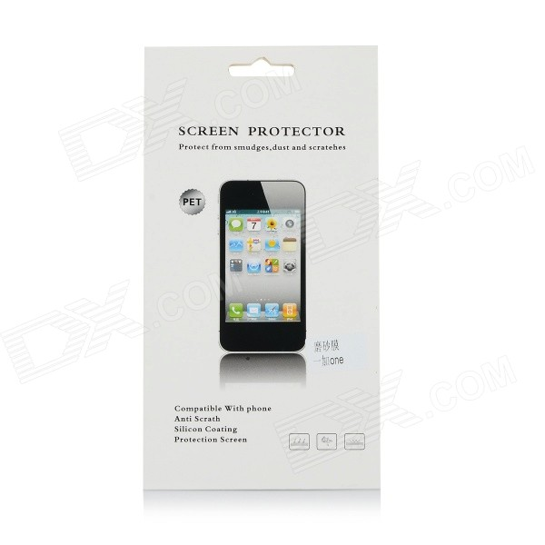 Protective PET Matte Screen Guard Protector for OnePlus One Cell Phone - Transparent protective matte frosted screen protector film guard for nokia lumia 900 transparent
