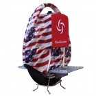 Fine Source FS-05 Stars / Stripes Pattern Electric Balancing Wheelbarrow Monocycle - Red + Blue