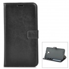 Protective PU Leather Case w/ Card Slots / Stand for Google Nexus 6 - Black