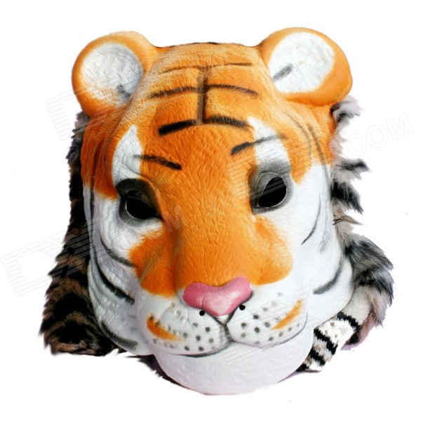 Tiger Style Festival Face Mask - White + Multi-Color