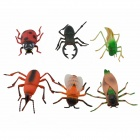 Educational Luonnolliset Insect Shaped Toy Set - Punainen + Multi-Color (5 PCS)