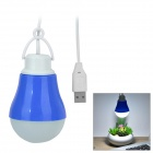 USB Powered 3W 80lm 10-SMD 5730 LED White Hanging Lamp - Blue + White