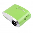 RD-802 24W LED HD Home Mini Projector w/ HDMI / VGA / USB + Remote Control - Grass Green (US Plug)