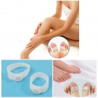 Magnetic Silicone Foot Massage Toe Ring - Tranlucent White (10 PCS)