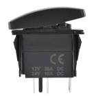 DIY 12V / 24V 5-Pin Water Resistant Water Pump Switch w/ Blue LED Backlight for Car & Yacht - Black