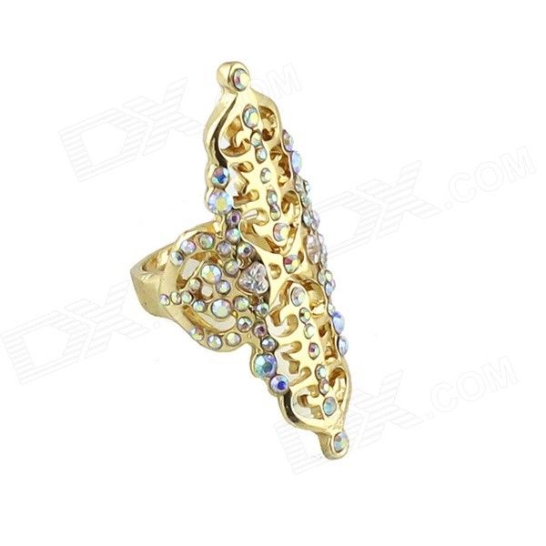 FJ-RG-3666 Women's Trendy Hollow-out Gold-plated Zinc Alloy Finger Ring - Gold (US Size: 7) donolux встраиваемый светильник donolux n1511 79 rp