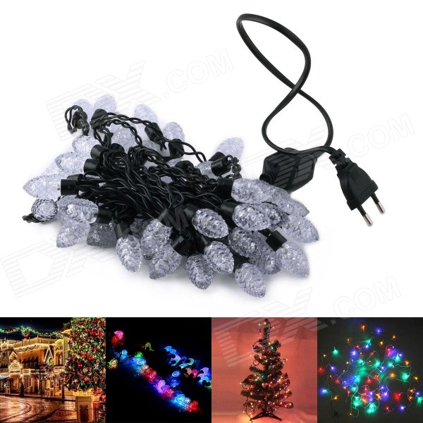 220V 12W RGB 50-LED Pineal Style Decorative Christmas Light Strip (500cm / EU Plug)
